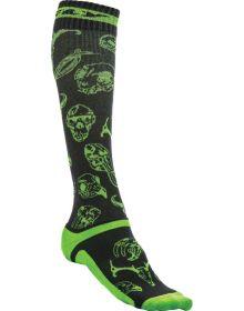 Fly Racing  MX Pro Thin Socks Green/Black