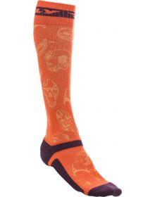 Fly Racing  MX Pro Thin Socks Orange/Purple