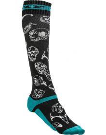 Fly Racing  MX Pro Thin Socks Teal/Black