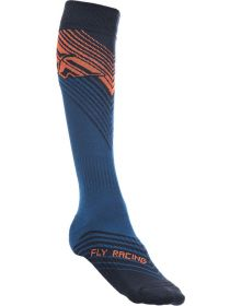 Fly Racing  MX Thin Socks Orange/Blue