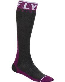 Fly Racing  MX Pro Thick Socks Maroon/Grey