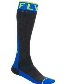 Fly Racing  MX Pro Thick Socks Blue/Hi-Vis/Grey