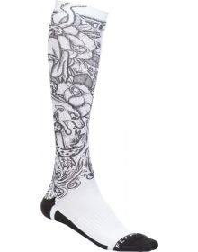 Fly Racing  MX Pro Thin Socks Panther White/Black