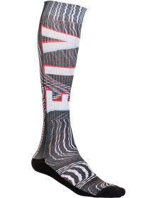 Fly Racing  MX Pro Thin Socks Glitch Black/White