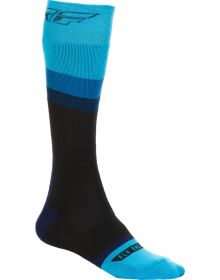 Fly Racing  MX Thick Youth Socks Blue/Black