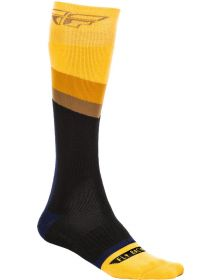 Fly Racing  MX Thick Youth Socks Yellow/Grey