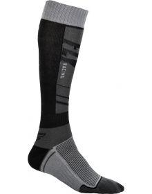 Fly Racing  MX Thin Youth Socks Grey/Black