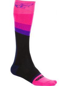 Fly Racing  MX Thick Socks Pink/Black