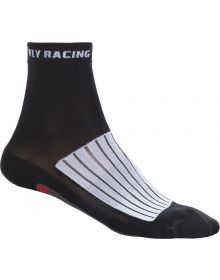 Fly Racing  Casual Action Socks Black/White/Red