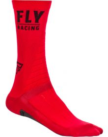 Fly Racing  Casual Factory Socks Black/White/Red
