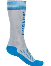 Fly Racing MX Pro Thick Socks Grey/Blue
