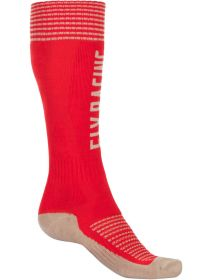 Fly Racing MX Pro Thick Socks Red/Khaki