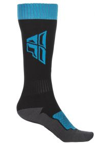 Fly Racing MX Thick Youth Socks Blue/Grey/Black