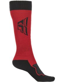 Fly Racing MX Thick Youth Socks Red/Grey/Black