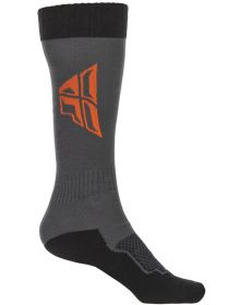 Fly Racing MX Thick Youth Socks Grey/Black/Orange