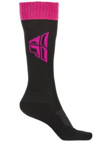Fly Racing MX Thick Youth Socks Black/Pink/Grey