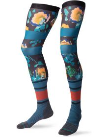 Stance Moto Knee Brace Socks Floras Blue