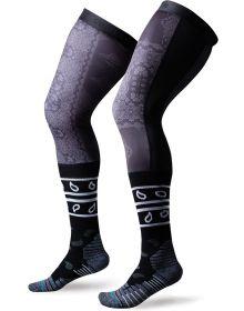 Stance Moto Knee Brace Socks Clash Black