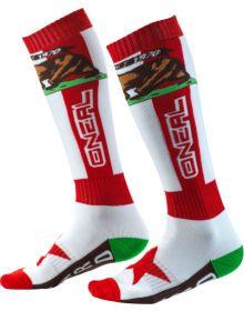 O'Neal 2020 Pro MX Sock California Red/White/Brown