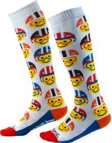 O'Neal 2020 Pro MX Youth Sock Emoji Racer Multi
