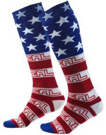 O'Neal Pro MX USA Socks Red/White/Blue