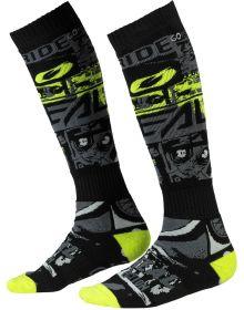 O'Neal Pro MX Ride Socks Black/Neon