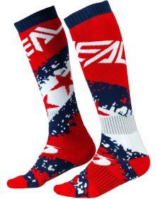 O'Neal Pro MX Stars Socks Red/Blue