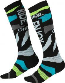 O'Neal 2022 Zooneal MX Socks Blue/Neon Yellow
