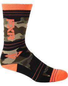 FXR Turbo 1/2 Athletic Socks 2 Pack Multi Colour Camo
