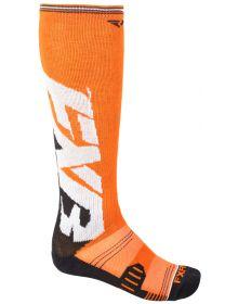 FXR Clutch Performance Mens Socks Orange/Black 2-PAIR