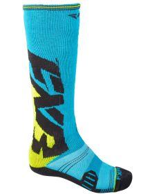 FXR Clutch Performance Mens Socks Blue/Hi-Vis 2-PAIR