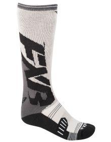 FXR Clutch Performance Mens Socks Charcoal/Grey 2-PAIR