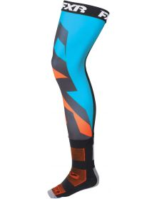 FXR Lightweight Clutch Riding Socks Blue/Orange