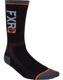 FXR 2020 Turbo Athletic Sock 2 Pack Black/Orange
