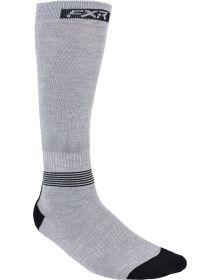 FXR Mission Performace Socks Heather Grey/Black