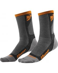 Thor Dual Sport Cool Socks Gray/Orange