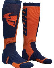 Thor MX Socks Navy/Orange