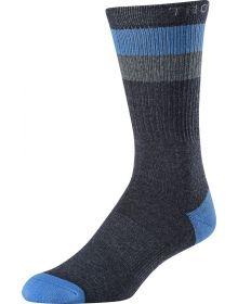 Troy Lee Designs Corsa Crew Socks Charcoal Heather