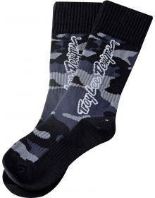 Troy Lee Designs GP MX Thick Youth Socks Camo Black