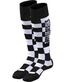 Troy Lee Designs GP MX Coolmax Thick Socks Checkers Black