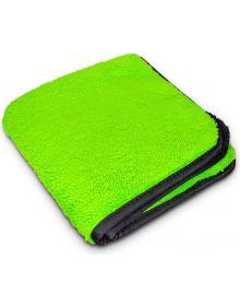 Slick Products Microfiber Towel Single Black/Green