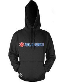 Factory Effex Suzuki Logo Pullover Hoodie Sweatshirt Black