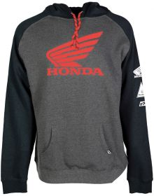 Factory Effex Honda Wing Pullover Sweatshirt Charcoal/Black