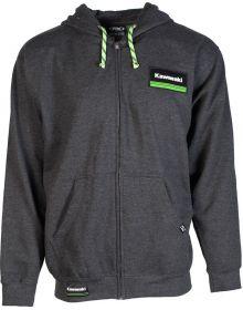 Factory Effex Kawasaki Lines Zip-up Sweatshirt Charcoal