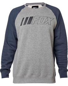Fox Racing Crewz Crew Crew Sweatshirt Heather Graphite