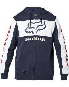 Fox Racing Honda Zip Sweatshirt Navy/White