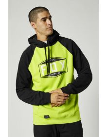 Fox Racing Emblem Raglan Pullover Sweatshirt Flo Yellow