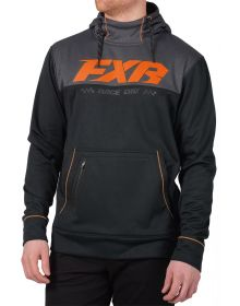 FXR Pursuit Tech Pullover Sweatshirt Black/Orange