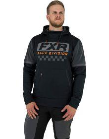 FXR Race Division Tech Pullover Hoodie Sweatshirt Black/Orange