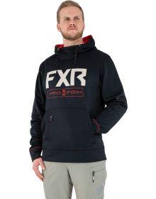 FXR Pursuit Tech Pullover Hoodie Sweatshirt Black/Rust